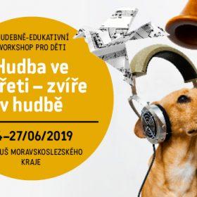 HUDBA VE ZVÍŘETI – ZVÍŘE V HUDBĚ <hr> hudebně-edukativní workshop ve školách <br> festivalové preview